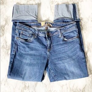 KUT from The Kloth Cropped Cuff Jeans Size 6